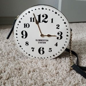 Kate Spade Glimmerton Round Circle Clock Bag
